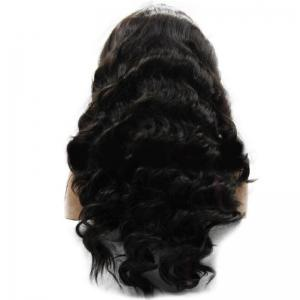 Long Center Parting Fluffy Thick Body Wave Synthetic Wig -