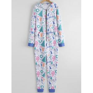 Hooded One Piece Christmas Pajama -