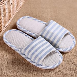 Striped Color Block Indoor Slippers -