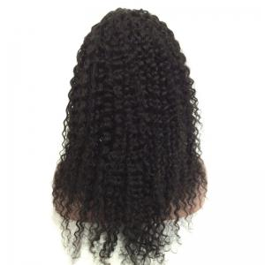Medium Free Part Fluffy Curly Lace Front Real Human Hair Wig -