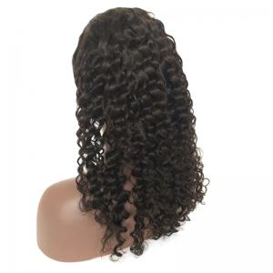Medium Side Parting Deep Wave Lace Front Real Human Hair Wig -