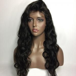 Long Free Part Shaggy Body Wave Real Human Hair Lace Front Wig -