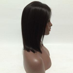 Short Center Parting Straight Bob Real Hair Cheveux devant perruque -