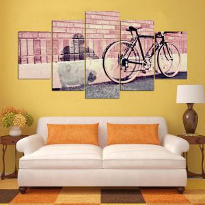 Bicycle Bricks Wall Printed Canvas Wall Art Paintings -