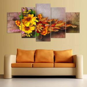 Flowers Printed Split Wall Art Canvas Paintings -