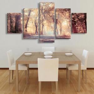 Maple Leaf Forest Canvas Prints Wall Art Painting -