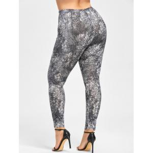 Plus Size Tie Dye Tight Leggings -
