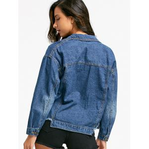 Poches à rabat Raw Jacket Jean - Denim Bleu M