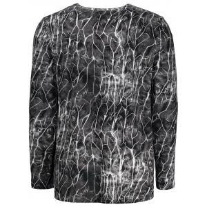 Flash Lightning Print Long Sleeve T-shirt -