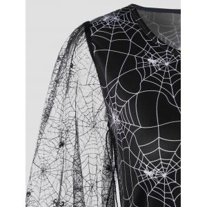Halloween Sheer Plus Size Spider Web Dress -