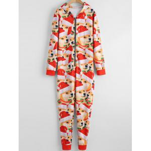 3D Doge Face Christmas One Piece Pajama -