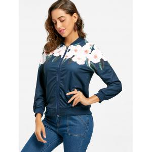 Zip Up Flower Print Jacket -