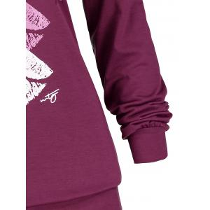 Plus Size Colorful Lips Mouth Graphic Hoodie -