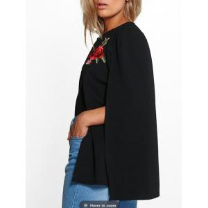 Embroidered Cape Jacket -
