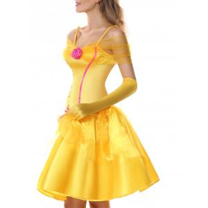 Princess Off Shoulder Holiday Costume Dress -