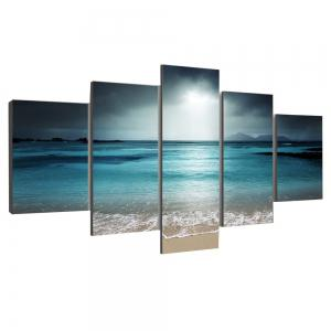 Sea Wave and Beach Printed Unframed Canvas Paintings -