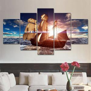 Unframed Sailboat Pattern Canvas Paintings -