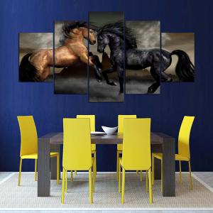 Horses Printed Unframed Canvas Wall Art Paintings -