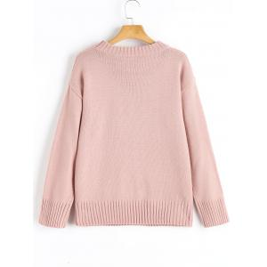 Crew Neck Cable-knit Pullover Sweater -