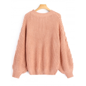 Chunky Cable Knit Sweater -