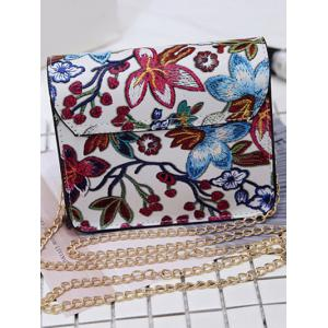 Floral Mini Chain Crossbody Bag -