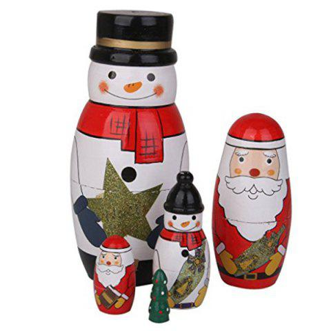 Outfit Christmas Santa Snowman Wooden Matryoshka Dolls - COLORMIX  Mobile