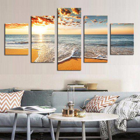 Affordable Unframed Sea Beach Pattern Canvas Paintings