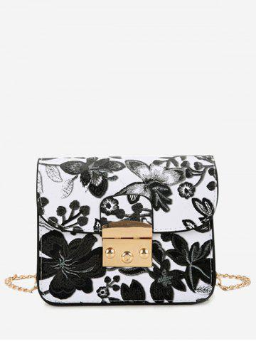 Latest Floral Mini Chain Crossbody Bag BLACK