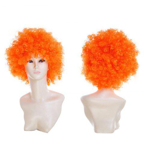 Buy Short Fluffy Afro Curly Clown Fans Carnival Party Wig - PEARL KUMQUAT  Mobile