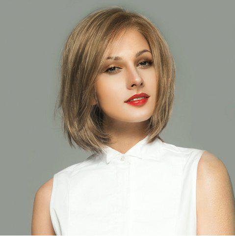 Discount Side Parting Short Straight Bob Lace Front Human Hair Wig