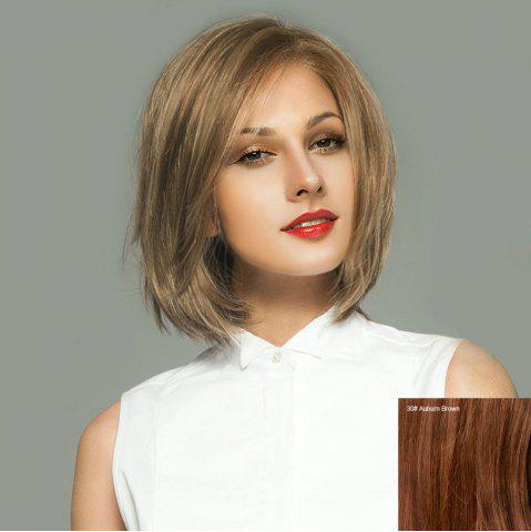 Cheap Side Parting Short Straight Bob Lace Front Human Hair Wig