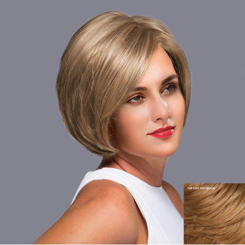 Trendy Side Parting Straight Short Bob Lace Front Human Hair Wig