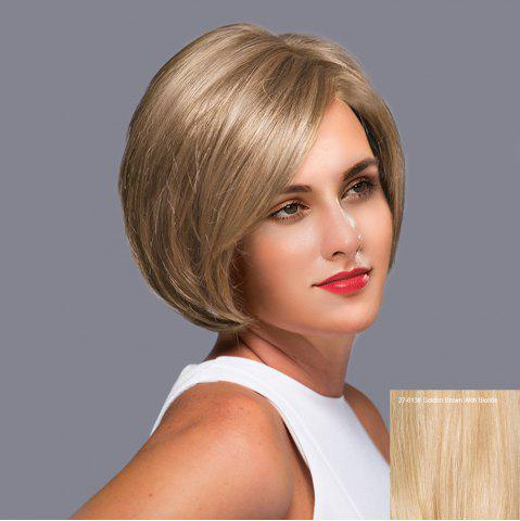 Hot Side Parting Straight Short Bob Lace Front Human Hair Wig