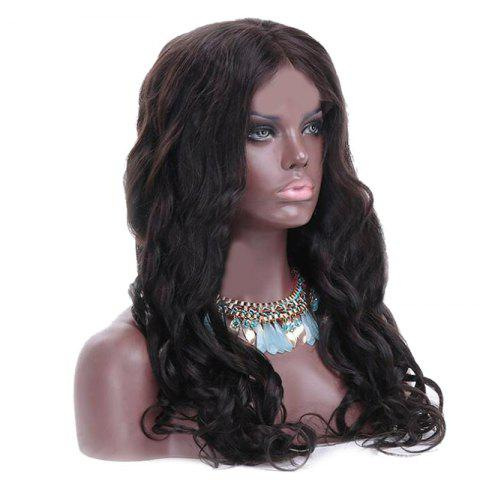 Store Long Center Parting Wavy Heat Resistant Synthetic Wig - NATURAL BLACK  Mobile