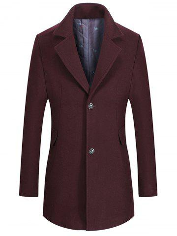 Affordable Single Breasted Lapel Collar Wool Mix Coat