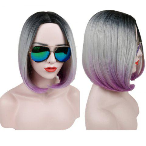 Store Short Center Parting Straight Bob Ombre Synthetic Wig - COLORMIX  Mobile