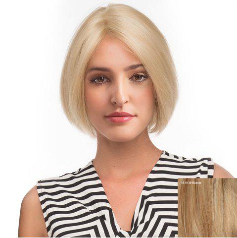 Chic Center Parting Short Straight Bob Human Hair Lace Front Wig