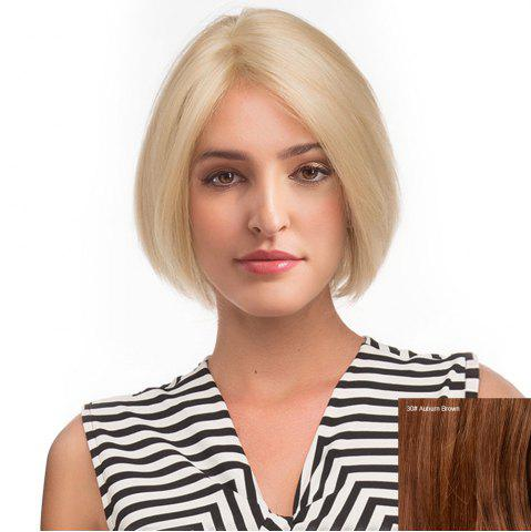 Best Center Parting Short Straight Bob Human Hair Lace Front Wig