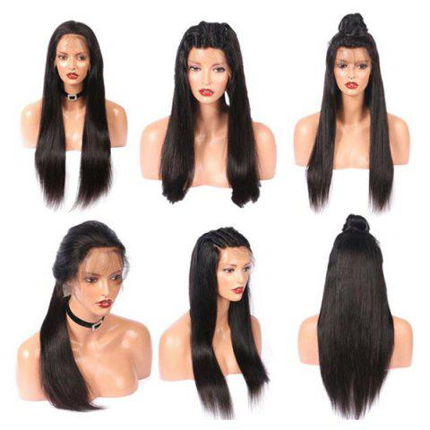 Shops Long Free Part Straight Real Human Hair Lace Front Wig