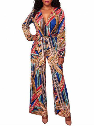 Fancy Wide Leg Aztec Tribal Jumpsuit - S COLORMIX Mobile