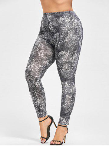 Affordable Plus Size Tie Dye Tight Leggings