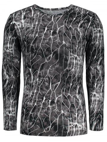 New Flash Lightning Print Long Sleeve T-shirt - XL COLORMIX Mobile