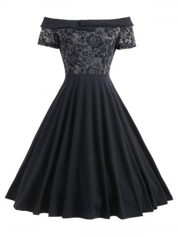 Outfit Lace Trim Off The Shoulder Cocktail Dress