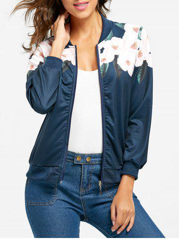 Shop Zip Up Flower Print Jacket