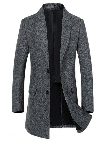 Best Flap Pocket Single Breasted Lapel Heathered Coat