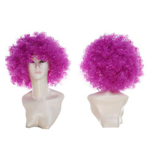 New Short Fluffy Afro Curly Clown Fans Carnival Party Wig