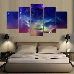 Unframed Aurora Sky Pattern Canvas Paintings -