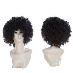 Short Fluffy Afro Curly Clown Fans Carnival Party Wig - Noir