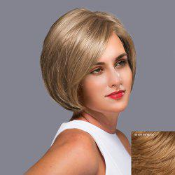 Side Parting Straight Short Bob Lace Front Human Hair Wig -