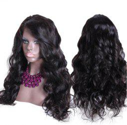 Long Side Parting Fluffy Thick Body Wave Synthetic Wig -